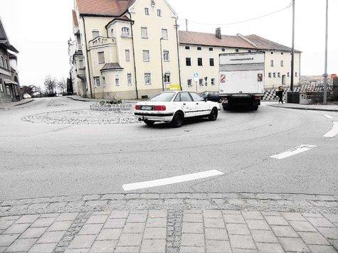 Die Fußgänger im Kreisel an der Spange sind gefährdet. Hier sollte nach Ansicht der SPD Abhilfe geschaffen werden.