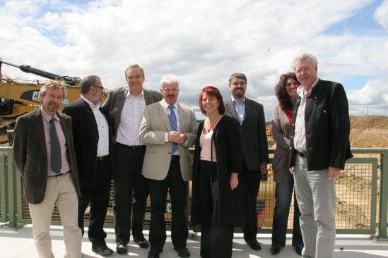von links : L. Spirkl, R. Fischer, Bürgermeister Baumgartner, MdL Diana Stachowitz, U. Geltinger, E.Ismail, G. Knoblauch